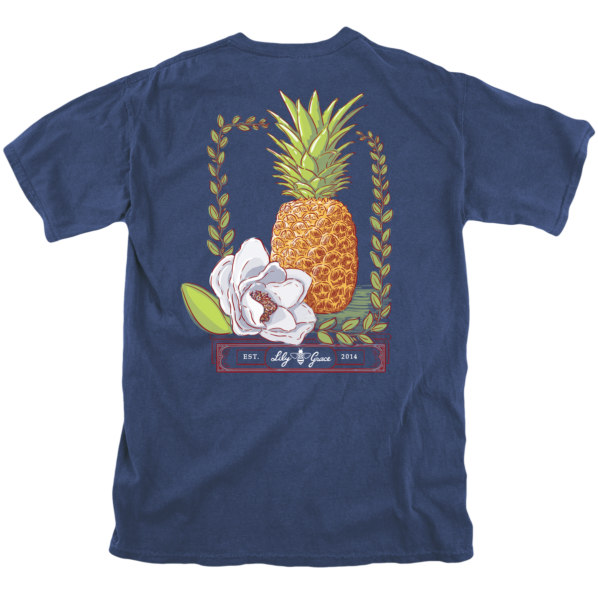 Lily Grace Pineapple Magnolia T-Shirt