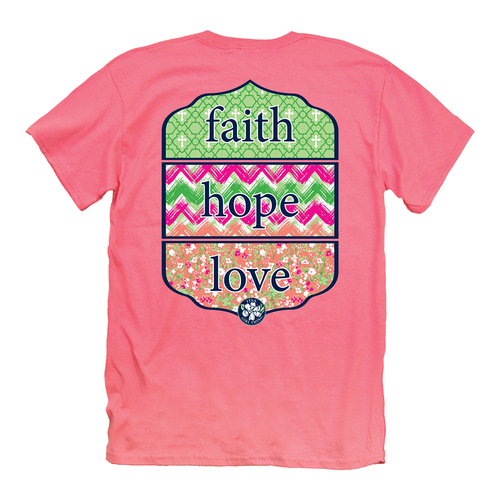 Itsa Girl Thing T-Shirt - Faith Hope Love