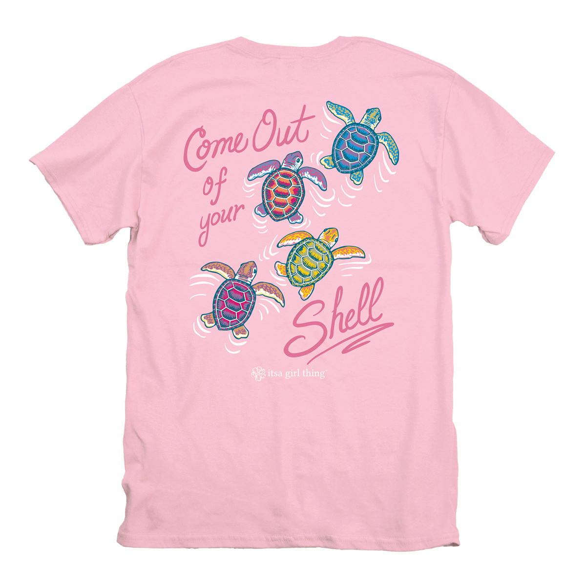 Itsa Girl Thing Turtles Come Out T-Shirt Youth