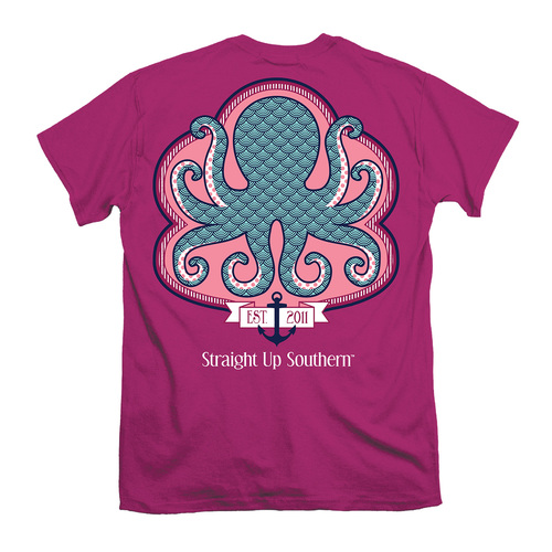 Itsa Girl Thing T-Shirt - Pattern Octopus