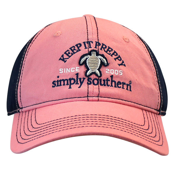 Simply Southern Cap - Turtle - Keep It Preppy - Hat Color Peony