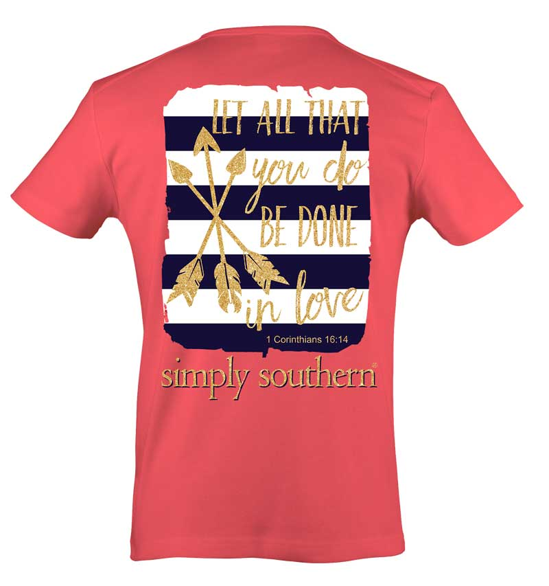 Simply Southern Preppy Collection Done in Love T-shirt
