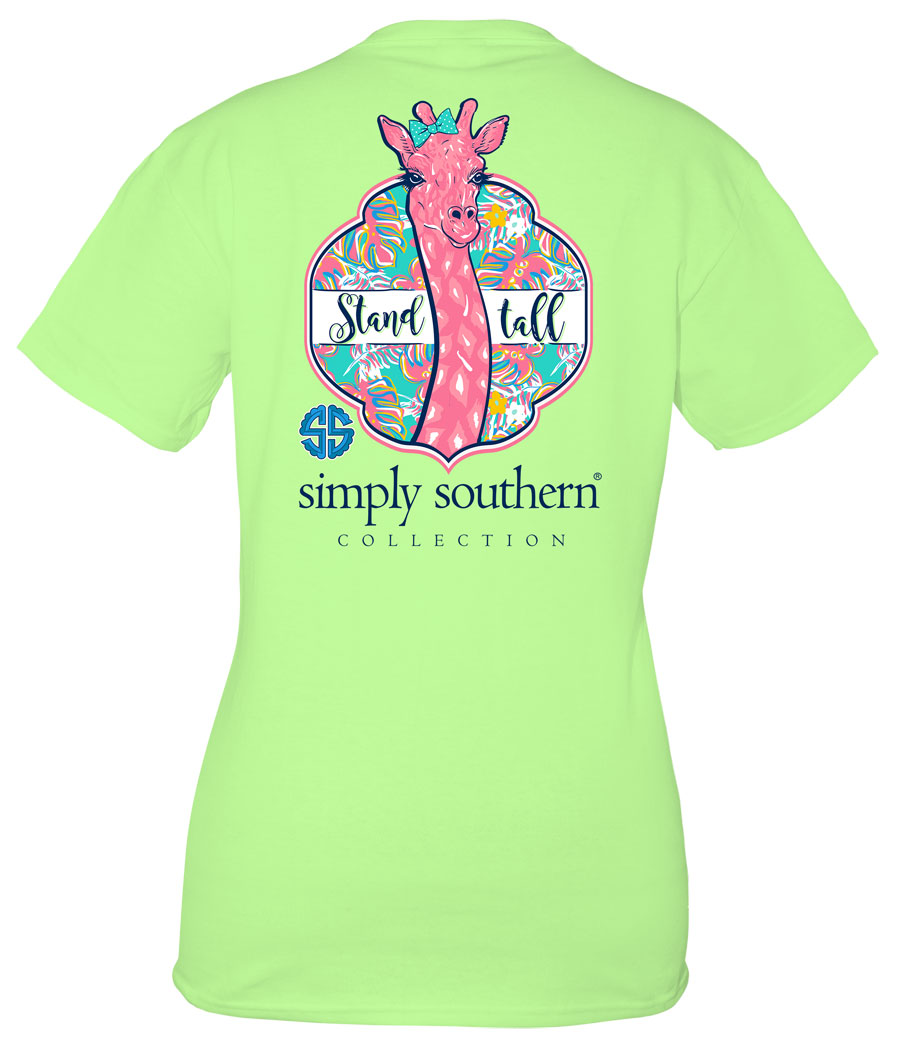 Simply Southern Preppy Collection Stand Tall T-shirt for Women in Limeade