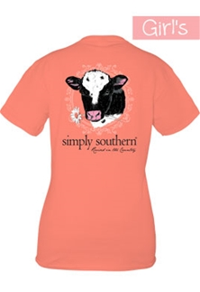 Youth Simply Southern Preppy Collection Raised in the Country T-shirt for Girls
