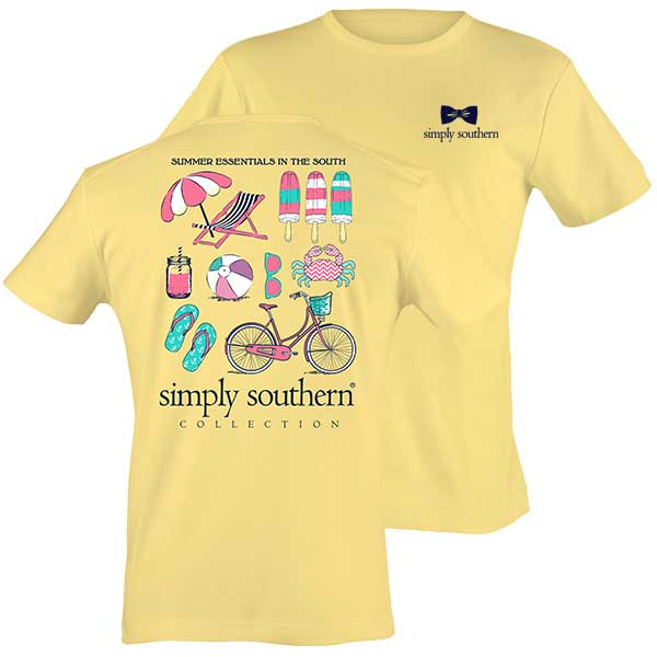 Simply Southern Preppy Collection Summer Essentials T-shirt for Women in Sunrise