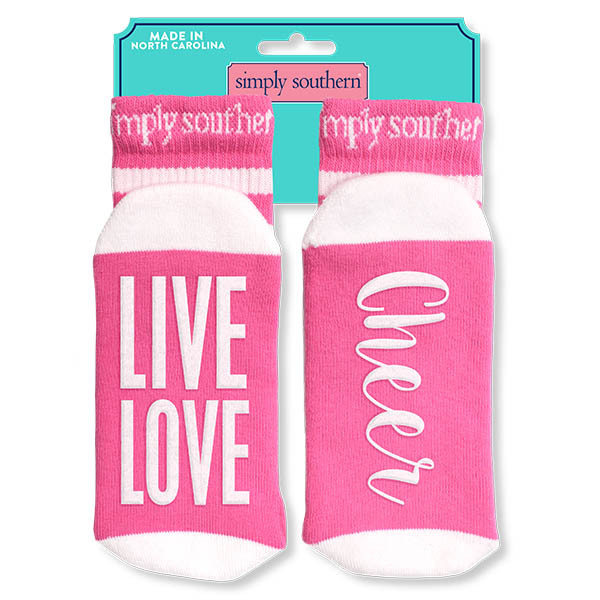 Simply Southern Socks - Cheer Live Love