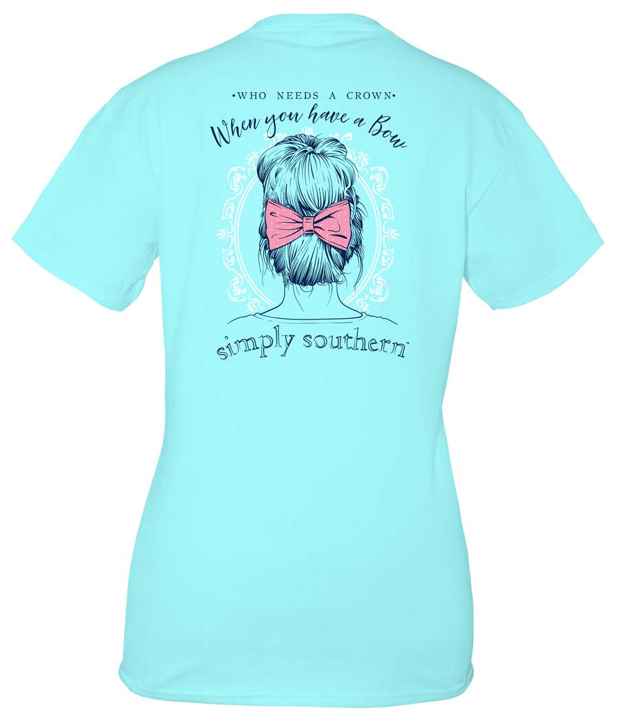 Simply Southern Preppy Collection Who Needs a Crown T-shirt for Women in Marine