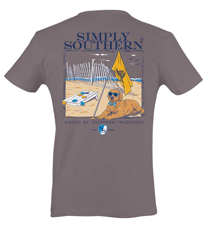 Simply Southern Preppy Collection Raised by Southern Traditions T-Shirt in Steel