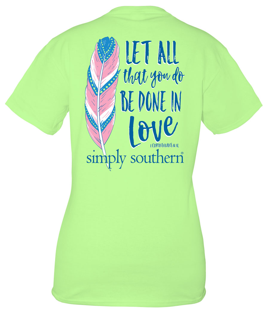 Youth Simply Southern Preppy Collection Be Done in Love T-shirt for Girls