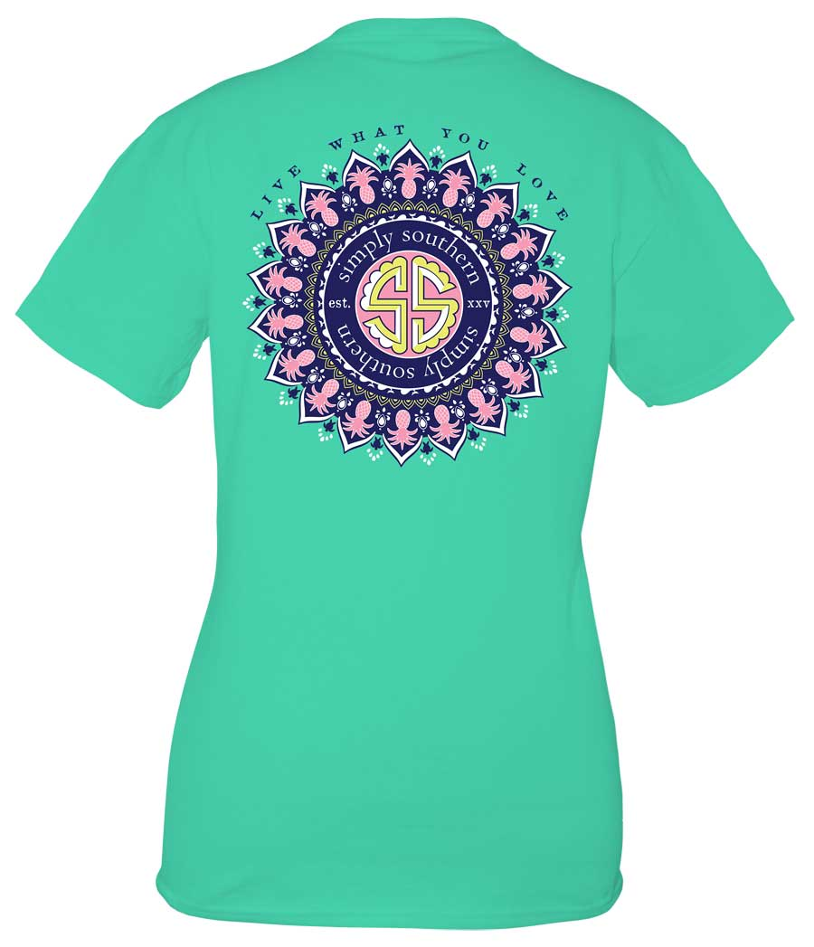 Simply Southern Preppy Collection Live What You Love T-Shirt in Aruba