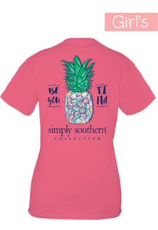 Youth Simply Southern Preppy Collection Beyoutiful T-Shirt for Girls in Strawberry