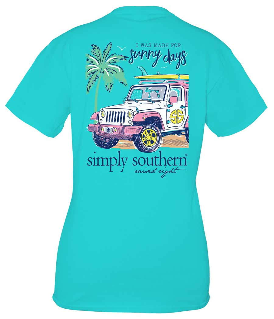 Simply Southern Preppy Collection Made for Sunny Days T-Shirt in Pool