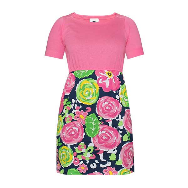 Simply Southern Preppy Collection Garden Print Dress for Women