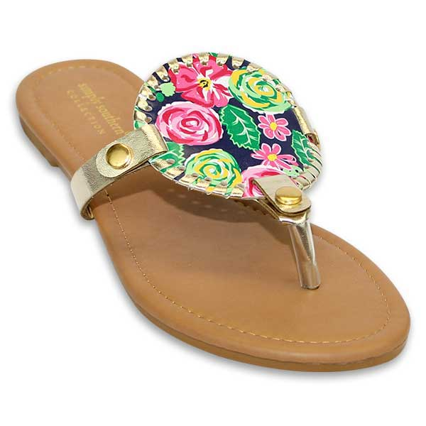 Simply Southern Preppy Collection Garden Sandals