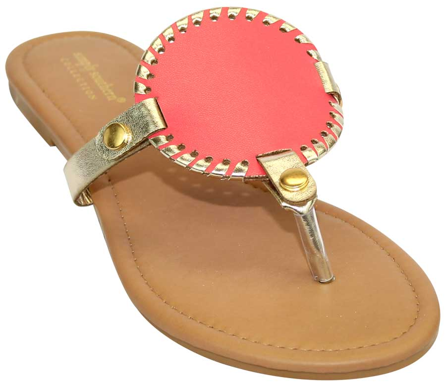 Simply Southern Preppy Collection Pink Sandals