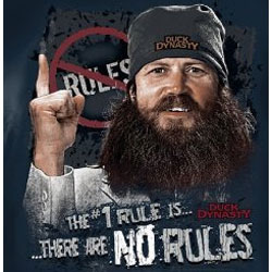 Duck Dynasty T-Shirts - Jase The #1 Rule Is There Are No Rules Tee