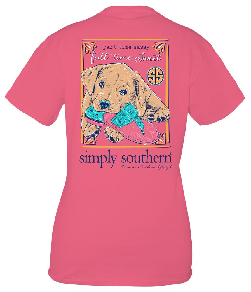 Simply Southern Tees Preppy T-Shirt - Dog Sandal - Party Time Sassy Full time Sweet