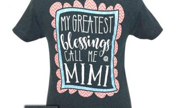 Girlie Girl My Greatest Blessings Call Me Mimi T-Shirt Tee
