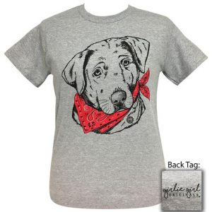 Girlie Girl Originals Paisley Bandana Lab Sport Grey T-Shirt Tee