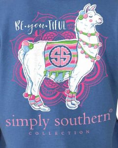 d70637331 Simply Southern Be You Tiful Llama T-Shirt Tee For Women In Moonrise