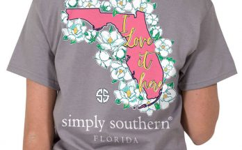 Simply Southern Preppy Tees Florida I Love it Here T-shirts