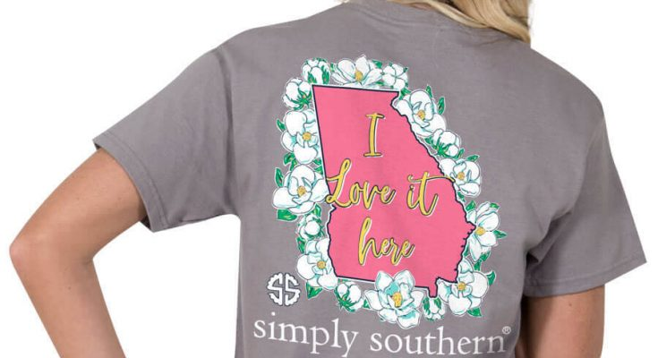 Simply Southern Preppy Tees Georgia I Love It Here T-Shirts