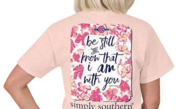 Simply Southern Preppy Collection Tee Be Still T-shirt for Women in Rose PREPPYSTILL-ROSE