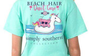 Simply Southern Beach Hair Don't Care T-Shirt Tee