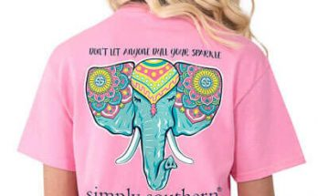 Simply Southern Tees Don't Let Anyone Dull Your Sparkle Elephant T-shirts