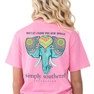 fe8c82e7e347 Simply Southern Tees Don t Let Anyone Dull Your Sparkle Elephant T-shirts