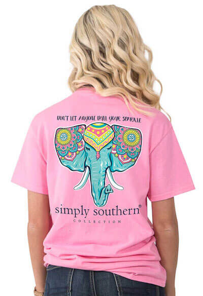 53aed8c1f8 Simply Southern Tees Don't Let Anyone Dull Your Sparkle Elephant T-shirts