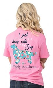 Simply Southern Preppy Tees Hang With My Dog T-Shirts