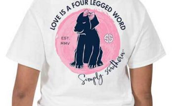 Simply Southern Preppy Tees Love Is A Four Legged Word T-Shirts