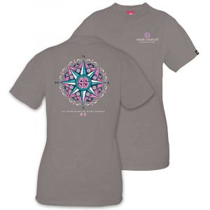 Simply Southern Preppy Tees Compass T-shirts For Women In Steel