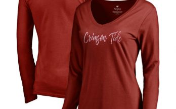 Alabama Crimson Tide Tees Women's Long Sleeve V-Neck T-Shirt