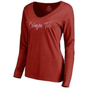 Alabama Crimson Tide Tees Women's Long Sleeve V-Neck T-Shirt