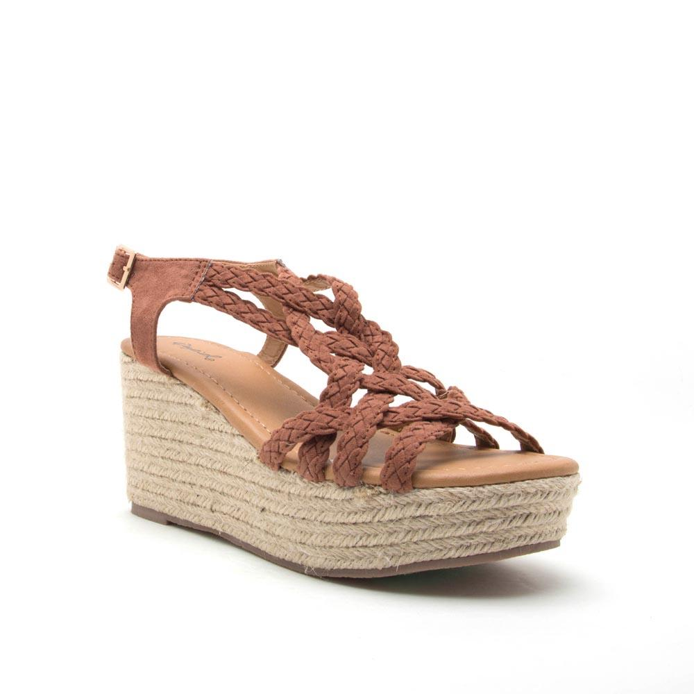 dc2ea5d2248 Qupid Shoes Caleb Braided Platform Wedges For Women