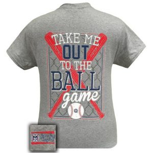 Girlie Girl Originals Take Me Out To The Ball Game Baseball T-Shirt