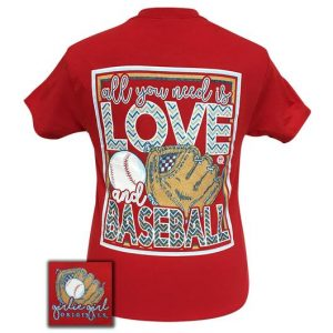 Girlie Girl Originals Love And Baseball T-Shirt