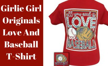 Girlie Girl Originals Love And Baseball T-Shirt