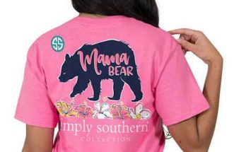 Simply Southern Preppy Collection Mama Bear Strawberry T-shirt for Women