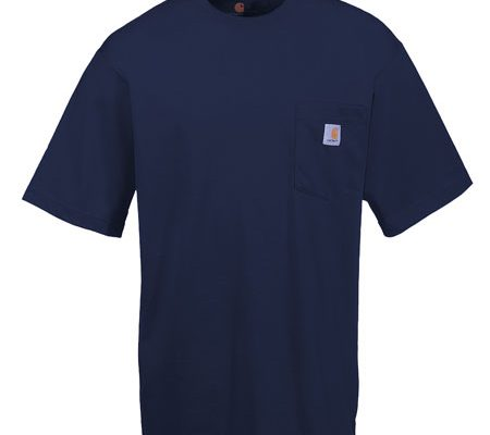 Carhartt Shirts K87 Men's Cotton Pocket Short Sleeve T-Shirts