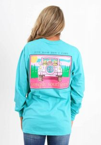 Simply Southern Long Sleeve Shirt - Preppy Jeep Hair Don't Care