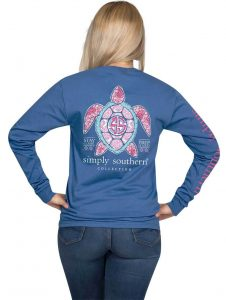 Simply Southern Long Sleeve Shirt - Preppy Turtle - Stay Classy Prep Hard