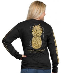 Simply Southern Long Sleeve T-Shirt Pineapple Design