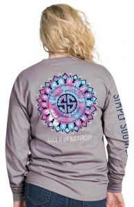 Simply Southern Long Sleeve T-Shirt Buttercup Design