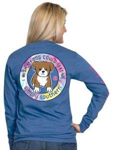 Simply Southern Long Sleeve Dog Text T-Shirt
