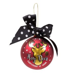 Hey Deer - Cute Simply Southern Christmas Tree Holiday Ornaments