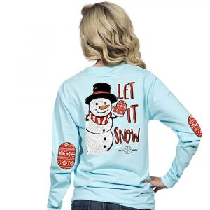 Simply Southern Christmas Shirts 2018 Snowman Let It Snow