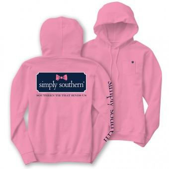 Simply Southern T-Shirt Hoodie Pink